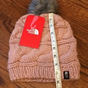 The North Face Accessories - The North Face triple cable fur Pom beanie NWT  o  14086766eab7